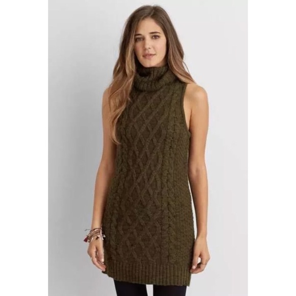 9c6dda0e7f07 American Eagle Outfitters Dresses | Aeo Sleeveless Turtleneck ...